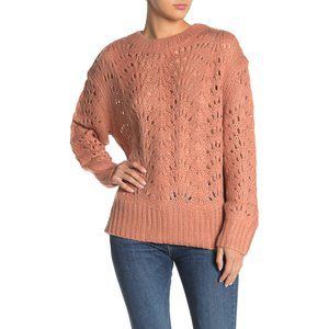Mustard Seed NWT Pointelle Knit sweater clay S